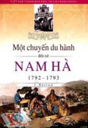 """Bìa sách cuốn """"Một Chuyến Du Hành Đến Xứ Nam Hà trong các năm 1792 và 1793"""""""