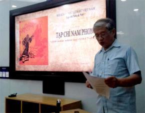 """Tác giả đọc tham luận tại buổi Tọa đàm """"Tạp chí Nam Phong - 100 năm nhìn lại (1917-2017)"""""""