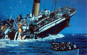 Hình ảnh con tàu Titanic bị đắm năm 1912