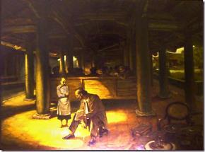 """Bức tranh """"Cậu bé kéo quạt trường Yên Phụ Nguyễn Văn Vĩnh – 1890"""" của họa sĩ trẻ Duy Minh"""
