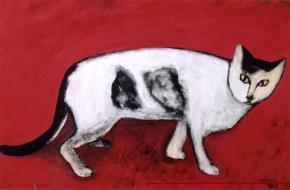 Tranh mèo của HS Đào Hải Phong