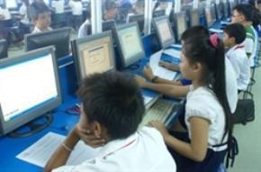 Một giờ học tin học của học sinh tại TPHCM. Ảnh: Cao Kiến Nam