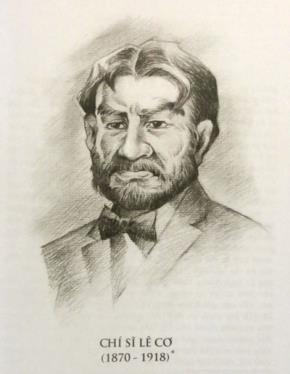 Chí sĩ Lê Cơ (Ảnh Thanh Tân chụp lại từ ấn phẩm cùng tên do NXB Đà Nẵng phát hành)