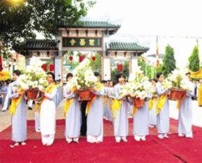 Một hoạt động tại Tuần Văn hóa Phật giáo. Ảnh: Thanh Tùng.