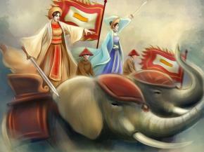 Năm 30, vua Hán Quang Vũ áp đặt chế độ trực trị trên vùng đất của người Việt. Từ năm 40, dưới sự lãnh đạo của Hai Bà Trưng, người Việt đã khởi nghĩa đánh đuổi quân Hán và lập ra một quốc gia độc lập với kinh đô tại Mê Linh...